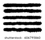 abstract black paint splashes... | Shutterstock .eps vector #606795860