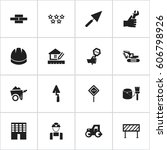 set of 16 editable structure...