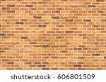 brown brick wall texture... | Shutterstock . vector #606801509