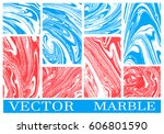 set of abstract vector... | Shutterstock .eps vector #606801590