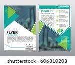 brochure  flyer  leaflet  cover ... | Shutterstock .eps vector #606810203