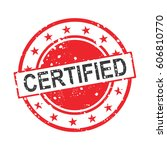 certified stamp vector | Shutterstock .eps vector #606810770