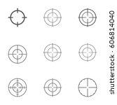 set of target icon | Shutterstock .eps vector #606814040