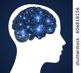 brain. design of human... | Shutterstock .eps vector #606818156