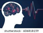 brain.design of human... | Shutterstock .eps vector #606818159