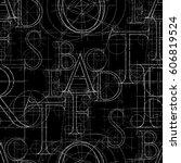 font seamless pattern  vector... | Shutterstock .eps vector #606819524