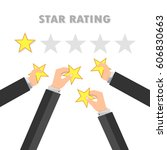 Rating Stars And Businessman...