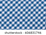 Blue Classic Checkered Table...
