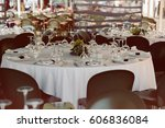 beautiful decorated wedding... | Shutterstock . vector #606836084