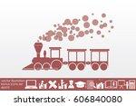 train icon vector illustration... | Shutterstock .eps vector #606840080