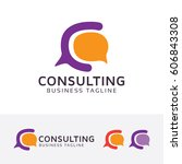consulting  letter c  vector... | Shutterstock .eps vector #606843308