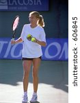 Steffi Graf at 1999 TIG Tennis Classic - stock photo