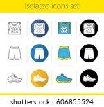 basketball player's uniform... | Shutterstock .eps vector #606855524