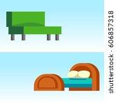 sofa isolated vector... | Shutterstock .eps vector #606857318