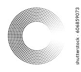 abstract ring of black dots.... | Shutterstock .eps vector #606859073