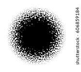 halftone circle of random... | Shutterstock .eps vector #606859184