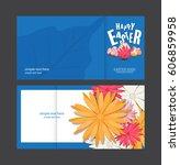 happy easter day  vector... | Shutterstock .eps vector #606859958