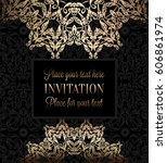 luxury ornament  lace in... | Shutterstock .eps vector #606861974