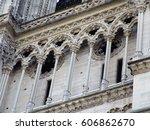 cathedral notre dame de paris ... | Shutterstock . vector #606862670