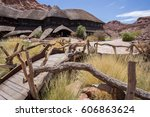 lodge in desert the rock art of ... | Shutterstock . vector #606863624