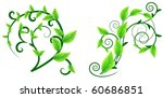 two floral design elements with ... | Shutterstock .eps vector #60686851