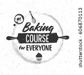 sketched elements of baking and ... | Shutterstock .eps vector #606870113