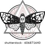 bloodworm tattoo | Shutterstock .eps vector #606871640