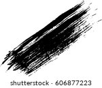 vector black line  grunge brush ... | Shutterstock .eps vector #606877223