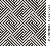 repeating geometric stripes... | Shutterstock .eps vector #606877286