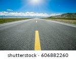 road through the grassland | Shutterstock . vector #606882260