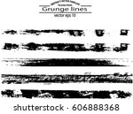 set of grunge brush strokes | Shutterstock .eps vector #606888368