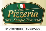 pizzeria label design | Shutterstock .eps vector #60689203