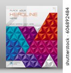 design for brochure cover with... | Shutterstock .eps vector #606892484