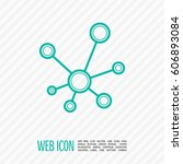 hub network connection isolated ... | Shutterstock .eps vector #606893084
