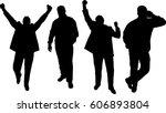 silhouette men's vector...   Shutterstock .eps vector #606893804