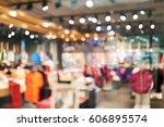 blurred showcases fashion... | Shutterstock . vector #606895574