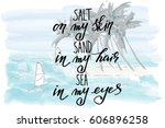 sea palms lettering phrase text ...