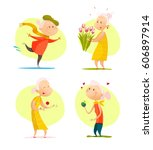 vector flat collection of... | Shutterstock .eps vector #606897914