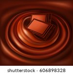 chocolate swirl background and... | Shutterstock .eps vector #606898328