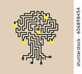 drawing a maze of electrical...   Shutterstock .eps vector #606898454