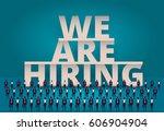 business hiring concept. hr... | Shutterstock .eps vector #606904904