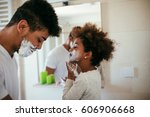 cute african american girl... | Shutterstock . vector #606906668