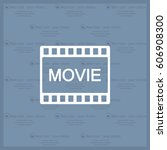 movie icon | Shutterstock .eps vector #606908300