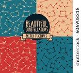 set of seamless backgrounds... | Shutterstock .eps vector #606908318