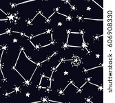 seamless background with starry ... | Shutterstock .eps vector #606908330