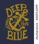 anchor. vintage label anchor...   Shutterstock .eps vector #606911099