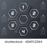 vector abstract 3d paper... | Shutterstock .eps vector #606913364