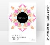 memphis geometric background... | Shutterstock .eps vector #606915494