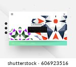 website template with geometric ...