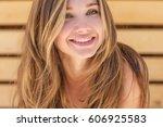 beautiful woman | Shutterstock . vector #606925583